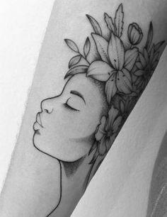 51 Ideas for flowers tattoo drawing quotes Tatto Drawings Funky Tattoos, Dope Tattoos, Dream Tattoos, Body Art Tattoos, Tattoo Drawings, Girl Tattoos, Tatoos, Best Sleeve Tattoos, Black People Tattoos