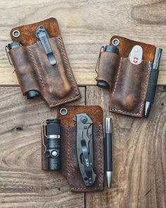654 Likes, 10 Comments – Jeremy ( on… Leather Art, Leather Tooling, Custom Leather, Handmade Leather, Leather Jewelry, Leather Holster, Leather Wallet, Mochila Edc, Messer Diy