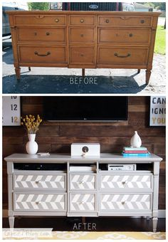 Need to keep an eye out for a piece like this...the top drawer area is perfect for a TV consoles & DVD player!!