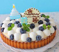 誕生日ケーキレシピ「バースデーフルーツタルト」