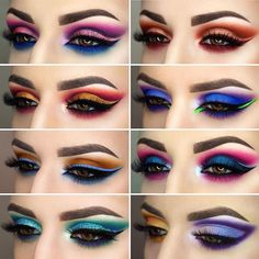 New Pattern Makeup Eyes Glamierre Enchanted Eyeshadow Palette eye makeup patterns - Eye Makeup Makeup Eye Looks, Eye Makeup Steps, Eye Makeup Art, Beautiful Eye Makeup, Colorful Eye Makeup, Crazy Makeup, Eyeshadow Makeup, Beauty Makeup, Makeup Eyes