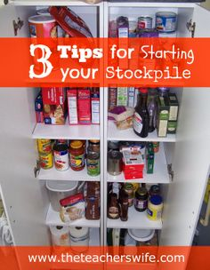 3 Tips for Starting Your Stockpile. If you are thinking about starting a stockpile of commonly used products but aren't sure how to get started, check out these 3 simple tips.  I assure you, it doesn't need to be as intimidating as it seems!