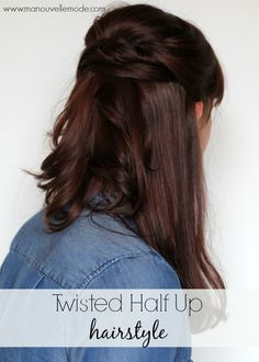 Twisted half up hairstyle by Ma Nouvelle Mode