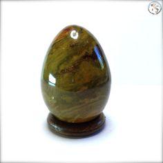 Uovo di diaspro oceanico, orbicolare, minerale, egg, cristalloterapia, 61mm