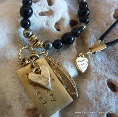 Love Every Moment Black Necklace - Inspirational handmade gemstone jewellery Earth Jewel Creations Australia
