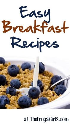 Load up with some tasty Breakfast and Brunch inspiration with these easy breakfast recipes! ~ at http://TheFrugalGirls.com #breakfast #brunch #recipes #easy #breakfast #recipe