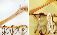 Hanger as Glasses Organizer