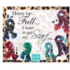 Beautiful scarves! One for each day of the week !