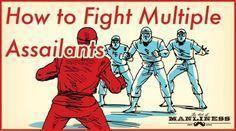 ninja fighting 3 enemies defend against multiple assailants More