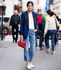 @Alexandra M What Wear - 7. Jeans   Swap Out: Skinny Jeans Swap In: Straight-Leg Cropped Jeans  Image courtesy of Stockholm Street Style