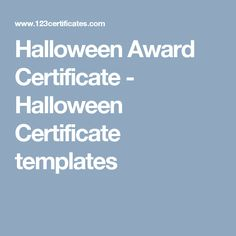 Blank certificate halloween certificate template halloween award certificate halloween certificate templates yadclub Images