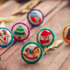 Ring of embroidery on the theme of children Christmas by Aipiyi, $28.00