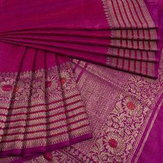 Handwoven Banarasi Kadhwa Tussar Silk Sarees from Avishya Pink Saree Silk, Dupion Silk Saree, Silk Saree Kanchipuram, Indian Silk Sarees, Tussar Silk Saree, Trendy Sarees, Stylish Sarees, Fancy Sarees, Simple Sarees