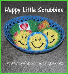 Posh Pooch Designs Dog Clothes: Happy Little Scrubbies Crochet Pattern | Posh Pooch Designs