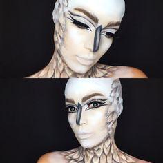 Bird makeup @stephrobertsmakeup