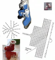 Crochet Ice Skate Ornament - Chart
