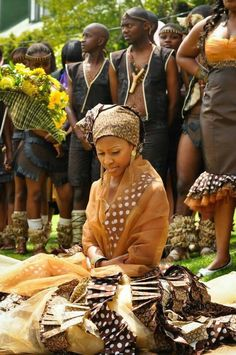 traditional weddings in addition to a western 'white wedding' is very common. African Tribes, African Diaspora, African Men, African Attire, African Beauty, African Style, African Theme, South African Wedding Dress, South African Weddings