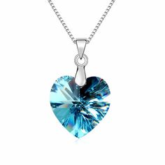 New 100  Original Gennuine Austrian Crystal Heart Pendant Necklace Crystals from…