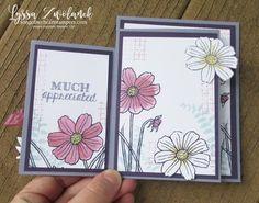 Fourfold Four fold card Stampin Up DIY inside tutorial