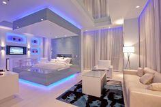 Love this Futuristic Bedroom Design Futuristic Bedroom, Futuristic Interior, Futuristic Design, Spaceship Interior, Girl Bedroom Designs, Design Bedroom, Bed Designs, Awesome Bedrooms, Nice Bedrooms