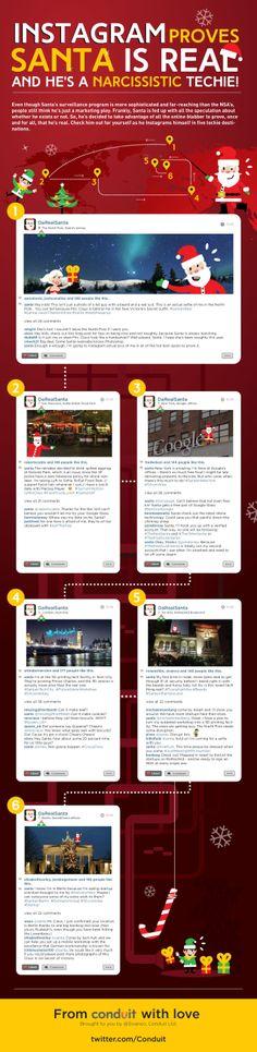Instagram proves Santa is real #infografia #infographic #socialmedia