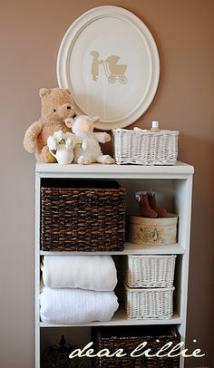 Chic baby bathroom storage #Nesting