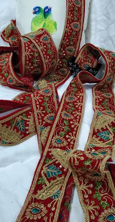 Shop more laces at Luxurionworld. Crystal Embroidery, Lace Patterns, Saree Blouse, 4th Of July Wreath, Sarees, Beading, Ribbon, Crystals, Hot