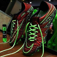 Double tap for the Red/Green Hypervenoms #Soccer #Boots