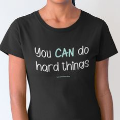 You Can Do Hard Things - V-Neck Tee / Black / sml
