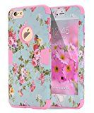 iPhone 6s Plus case iPhone 6 Plus case Flower TOPSKY [Love Flower Series] Three Layer Heavy Duty High Impact Resistant Hybrid Protective Cover Case For iPhone 6/6s Plus (Only For 5.5) Pink