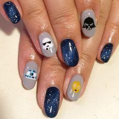 STAR WARS #avarice #kayo #art #nails #nailart #design #nailart #nailsalon #nailsalonavarice #starwars (AVARICE)