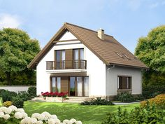 DOM.PL™ - Projekt domu ARN Tamarillo 3 CE - DOM RS1-74 - gotowy koszt budowy Attic House, Tiny House, Home Fashion, Woodworking Projects, Gazebo, Outdoor Structures, House Design, Mansions, House Styles