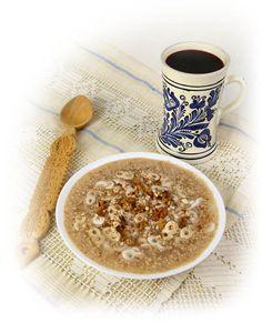 Mucenici munteneşti Seitan, Tzatziki, Frappe, Hummus, Nutella, Oatmeal, Breakfast, Ethnic Recipes, Food