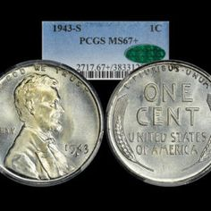 Add to cart 1942 1C Lincoln Wheat Cent PCGS MS67RED $195.00 Add to Wishlist Add to cart 1943 1C Lincoln Wheat Cent PCGS MS67+ CAC $550.00 Add to Wishlist Add to cart 1943 1C Lincoln Wheat Cent Steel PCGS MS67 $175.00 Add to Wishlist Add to cart 1943 Lincoln Wheat Cent PCGS MS67+ $500.00 Add to Wishlist Add to cart 1943-D 1C Lincoln Wheat Cent PCGS MS67+ $475.00 Add to Wishlist Add to cart