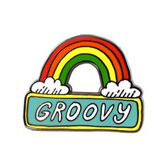 $10.00 Groovy Pin by Nicole Daddona from Valley Cruise Press