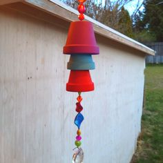 Planter wind chime, but with smaller pots for a more delicate sound.