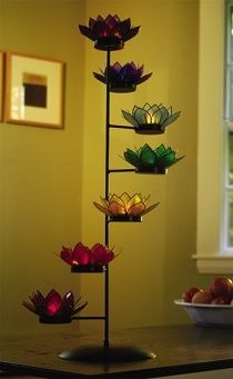 7 chakra candle holder! I want this for my meditation corner.                                                                                                                                                     More