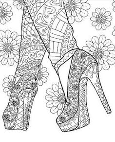 High Heel Shoes Stilettos coloring page on ColorMattersApp High Heel Ankle Strap Stilettos PumpsHigh Heel Shoes Stilettos coloring page on ColorMattersAppMust Have Shoes for Spring – Fashion Style Magazine… Coloring Pages For Grown Ups, Printable Adult Coloring Pages, Cute Coloring Pages, Coloring Books, Adult Colouring Pages, Mandala Coloring, Colorful Drawings, Illustration, Art Therapy