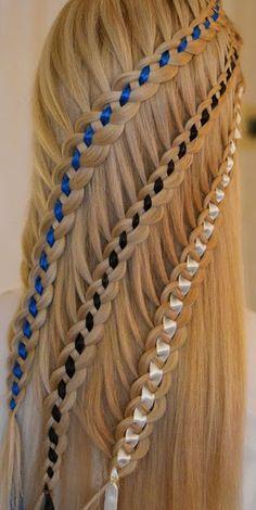 Ribbon braids! - Nails, Toenails, Hair, Tattoo art, Trends!