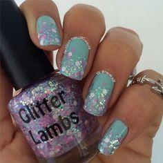 "Glitter Lambs ""Kawaii Bake Sale"" Glitter Topper Nail Polish. www.TheIcedSugarCookie.com Kawaii Nails. Custom handmade Kawaii nail polish."