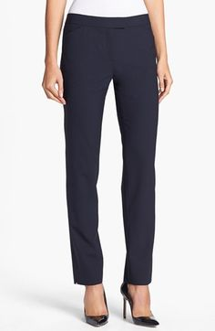 Lafayette 148 New York 'Irving' Stretch Wool Pants (Regular & Petite) (Nordstrom Exclusive) available at #Nordstrom
