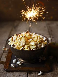 Toffee apple popcorn  - Healthy version yum!