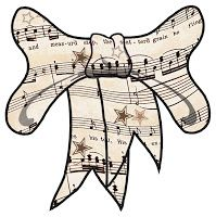 ArtbyJean - Vintage Sheet Music: ---RIBBON BOWS
