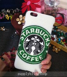 New Bling Starbucks Sparkly Chic Pearls Gems Crystals Rhinestones Diamonds Gemstone Fashion Lovely Hard Cover Case for Various Mobile Phones by Supplyblingsshop on Etsy https://www.etsy.com/listing/244274453/new-bling-starbucks-sparkly-chic-pearls