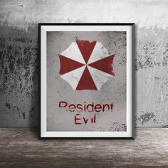Movie poster printResident Evil-alternative movie by OandBstudios