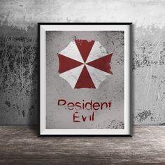Movie poster printResident Evil-alternative movie by OandBstudios
