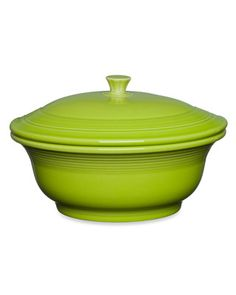 Fiestaware Covered casserole -- check my colors.