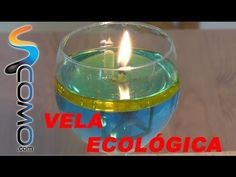 Cómo hacer velas de agua y aceite | Ecología: agua con colorante, aceite de girasol, rollito de papel higienico para mecha y base de botella de plastico para hacer soporte de mecha, cortar los bordes para q llegue el aceite