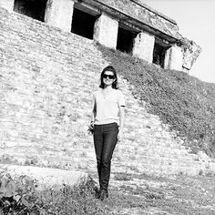 JKO in front of ancient ruins in Mexico, 1970