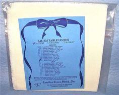 "SAL-EM Bread Cover Cross Stitch 14 Count Ivory Aida Fabric 18"" x 18"" Carolina #CarolinaCrossStitch"
